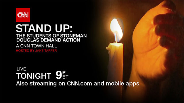 Cnn To Live Stream Cnn Town Hall Stand Up The Students Of Stoneman Douglas Demand Action