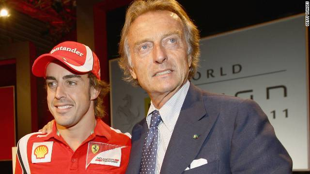 Ferrari president Luca di Montezemolo reminded Fernando Alonso of his duties on the Spaniard's 32nd birthday