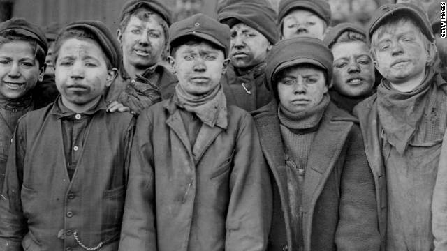 Scores of boys worked at the Breaker Pennsylvania Co. coal mine before child labor was finally outlawed in 1938.