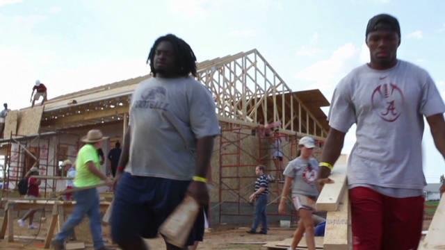 Football helps rebuild after devastation