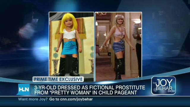 Pageant mom defends kid's hooker costume