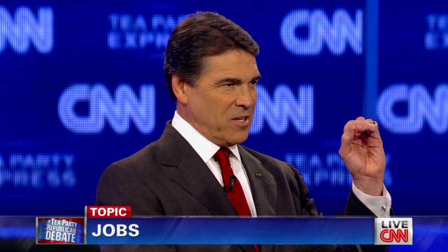 Perry: 'Stimulus created zero jobs'