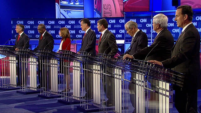 Republican candidates clashed over many issues at Monday's CNN/Tea Party Debate.