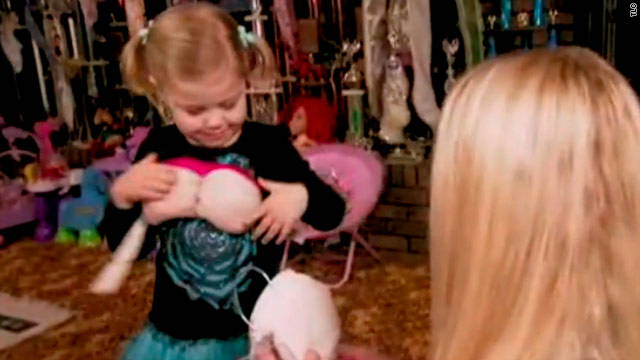 Footage of 3- and 4-year-olds dressed in overly adult costumes has hit the airwaves.
