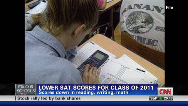 Average SAT scores sink for 2011 graduating class