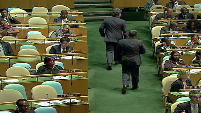 UN delegates walk out on Ahmadinejad