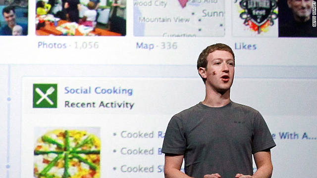 Facebook CEO Mark Zuckerberg delivers a keynote address during the Facebook f8 conference.