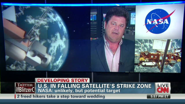 U.S. in falling satellite's strike zone