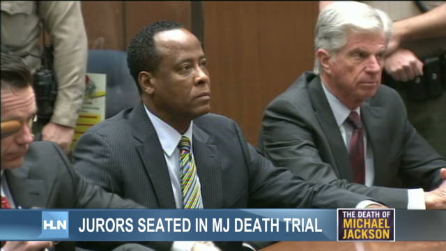 Jurors seated in MJ death trial