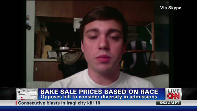 Student defends 'race' bake sale