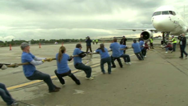 Pulling planes for Special Olympics