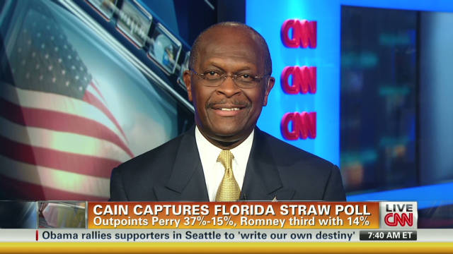 Cain: Message more powerful than money