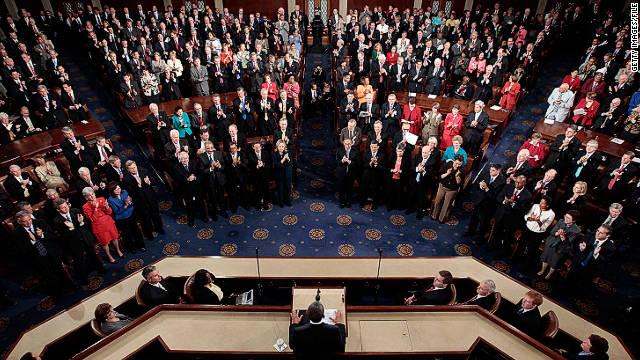 President Barack Obama addresses a joint session of Congress on September 8.
