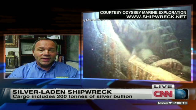 Silver-laden shipwreck