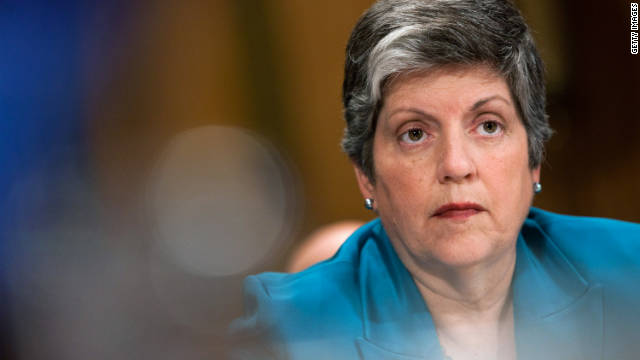 Homeland Security Secretary Janet Napolitano said she knew of no threat from looted Libyan weapons.