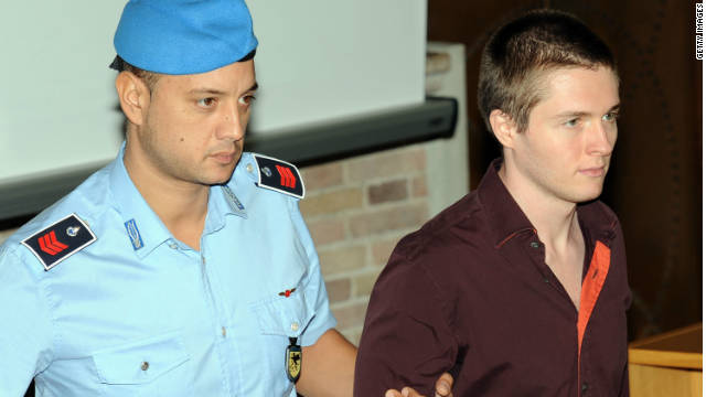 Raffaele Sollecito, right, attends his hearing at Perugia's Court of Appeal on Wednesday.