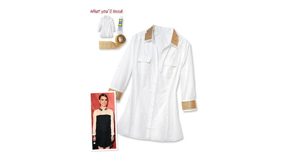 Studded shirt, inspired by Natalie Portman.