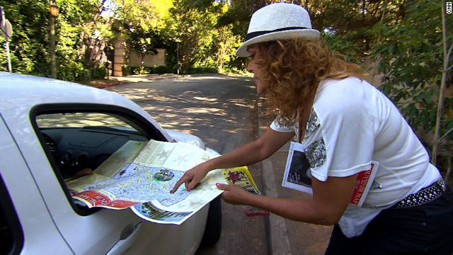 Linda Welton says many people who stop don't even buy a map. They just want to know where Michael Jackson's last home is.