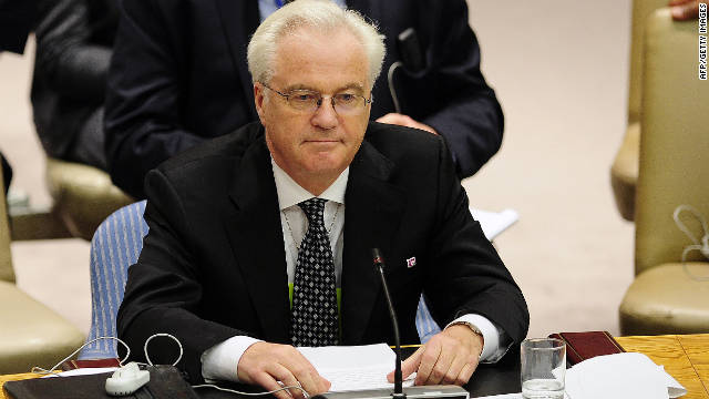 "Vitaly Churkin, the Russian ambassador to the U.N., said there are ""still things are in there that would make it impossible for us."""