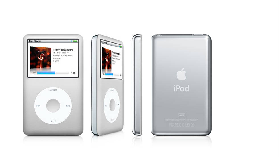 There have been six generations of the iPod Classic. As the digital music players get smaller and more colorful, the Classic maintains the form of the original and can hold a whopping 160 GB worth of media: roughly 40,000 songs.