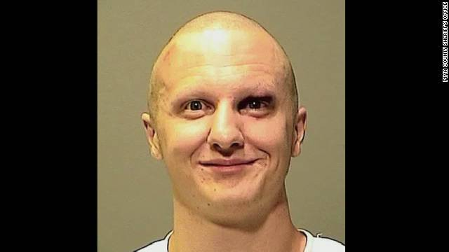 Mug shot of Jared Loughner on January 11, 2011, when he first appeared before a federal magistrate in Phoenix, three days after the shooting that injured Rep. Gabrielle Giffords and claimed the lives of a federal judge and a 9-year-old little girl.