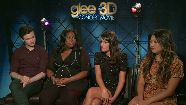 The cast of 'Glee' answer iReport questions