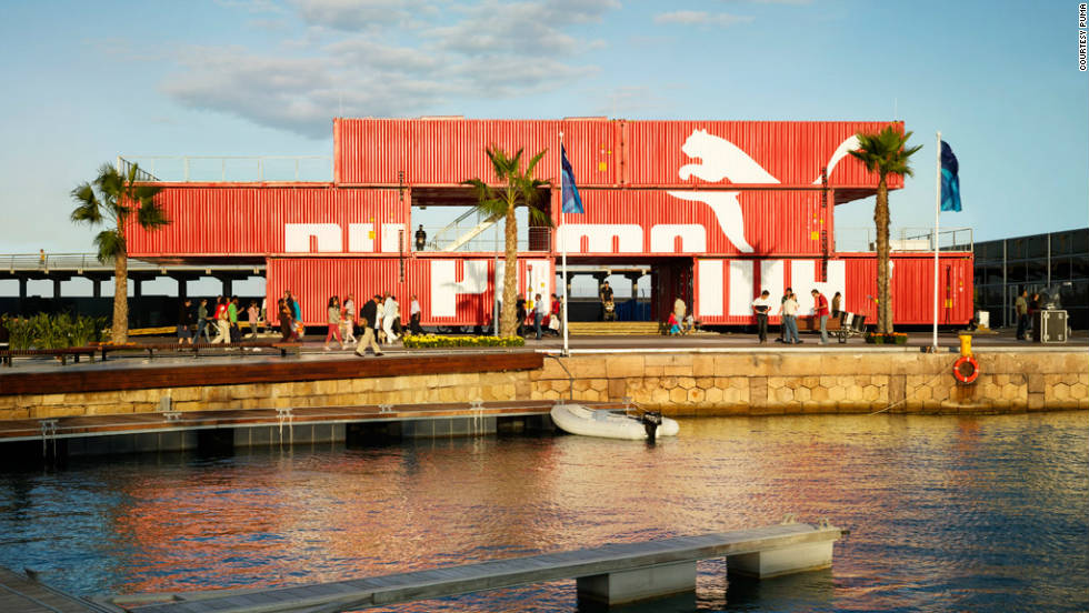 Innovative fashion architecture is not the sole preserve of the world's luxury brands however. Sportswear giant PUMA created this fully transportable store from used shipping containers with the help of architecture firm LOT-EK.