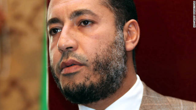 Moammar Gadhafi's son, Saadi Gadhafi, tried to flee to Mexico, officials say.