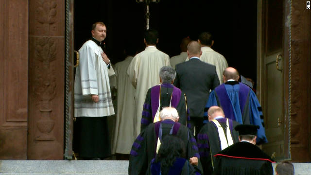 Supreme Court justices attend the annual Red Mass at the Cathedral of St. Matthew the Apostle in Washington on Sunday.