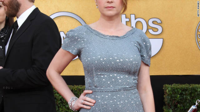 "Jenna Fischer, whose character on ""The Office"" is pregnant, is now a mom herself."