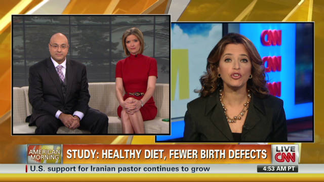 Healthy diet and fewer birth defects