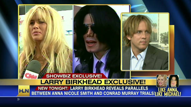 Larry Birkhead reacts to Murray trial