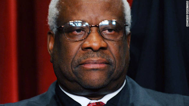 Justice Clarence Thomas, 63, is marking two decades on the Supreme Court.