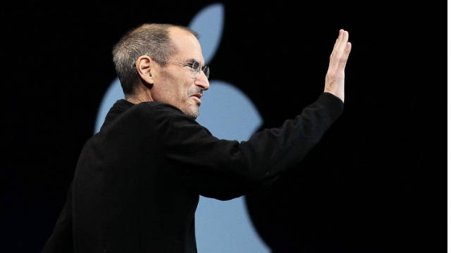 Apple CEO Steve Jobs waves as he delivers the keynote address at the 2011 Apple World Wide Developers Conference at the Moscone Center on June 6, 2011 in San Francisco, California. Jobs, 56, passed away October 5, 2011 after a long battle with pancreatic cancer. Jobs co-founded Apple in 1976 and is credited, along with Steve Wozniak, with marketing the world's first personal computer in addition to the popular iPod, iPhone and iPad. (Photo by Justin Sullivan/Getty Images)