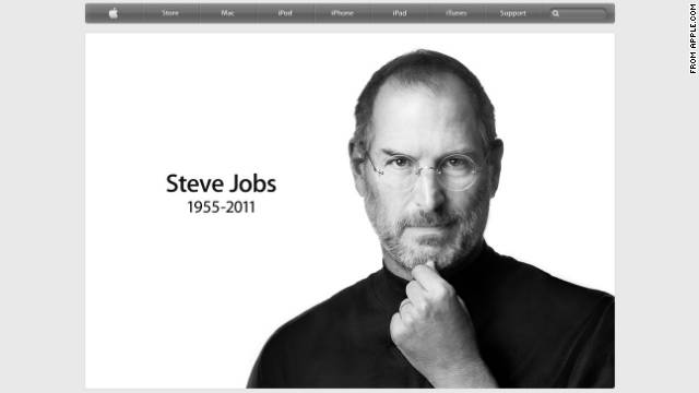 Apple updated its website Wednesday to reflect the death of Steve Jobs.