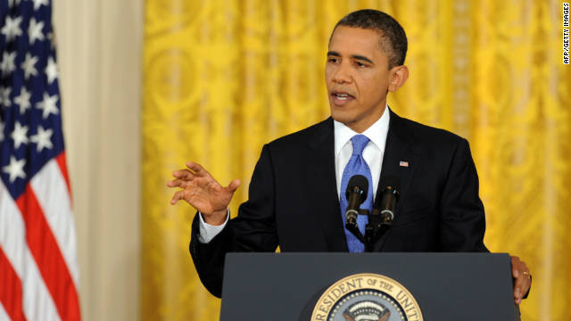 President Barack Obama speaks during a press conference in the East Room of the White House Thursday.