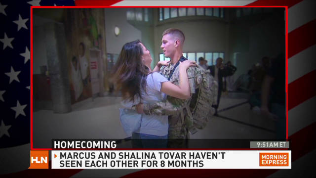 Army hero gets a welcome home