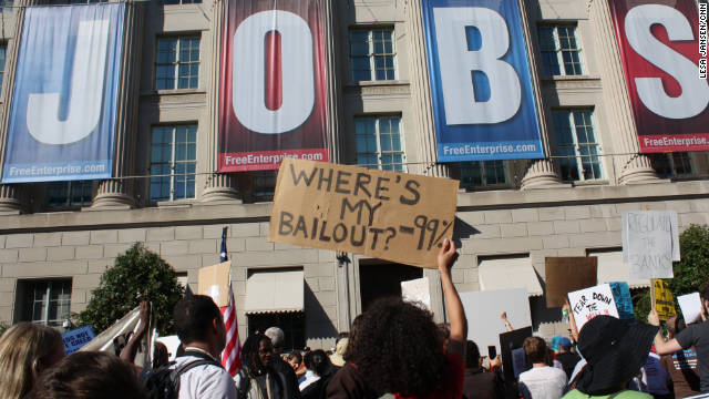 The Occupy Wall Street movement spilled over in Washington Thursday as a couple hundred people protesting social injustice gathered outside the national offices of the U.S. Chamber of Commerce.