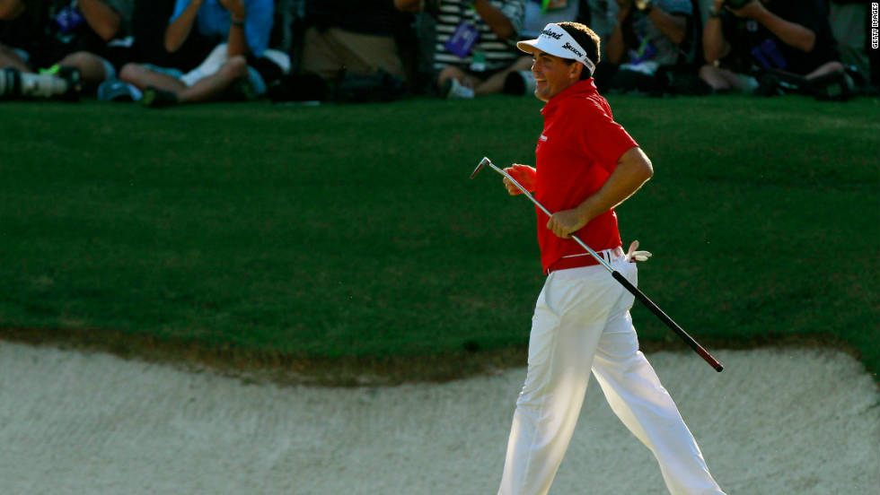 Keegan Bradley became the first man to win a golf major using a long putter when the American claimed the 2011 PGA Championship in August.