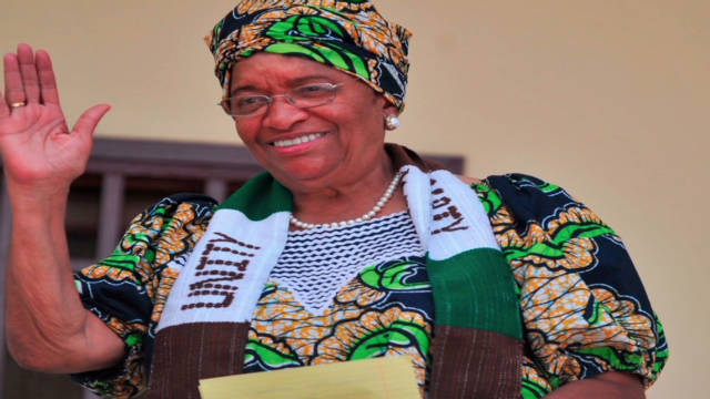 Liberian president gets peace prize