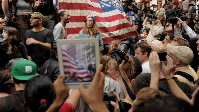 Communicating from and about the Occupy Wall Street protests is primarily a social phenomenon.
