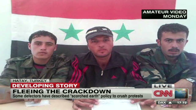 Soldiers defect from Syria