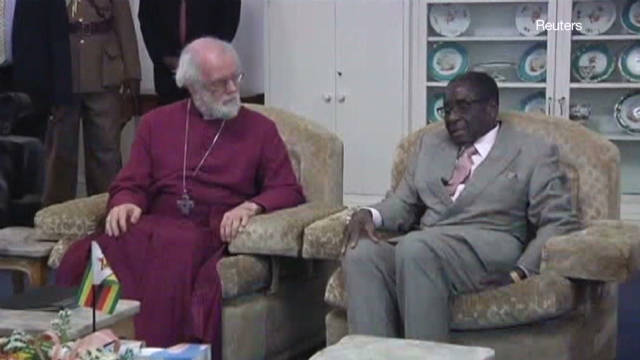 Mugabe, Archbishop of Canterbury meet