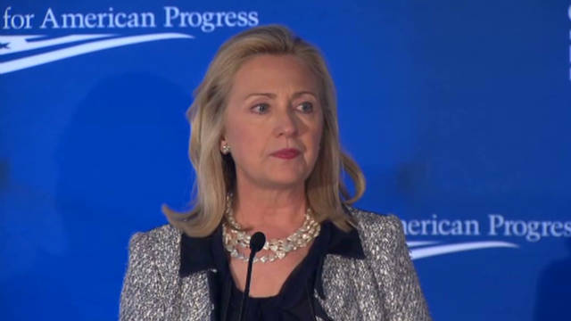 Clinton has strong words for Iran
