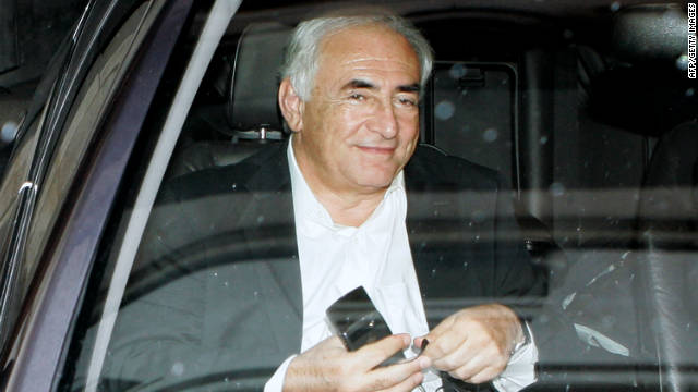 Dominique Strauss-Kahn travels to his lawyer's offices to be questioned by police on September 12, in Paris, France.