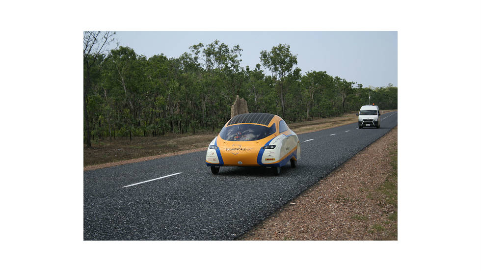 The University of Bochum's entry is hoping to demonstrate solar cars can be more practical for everyday life.