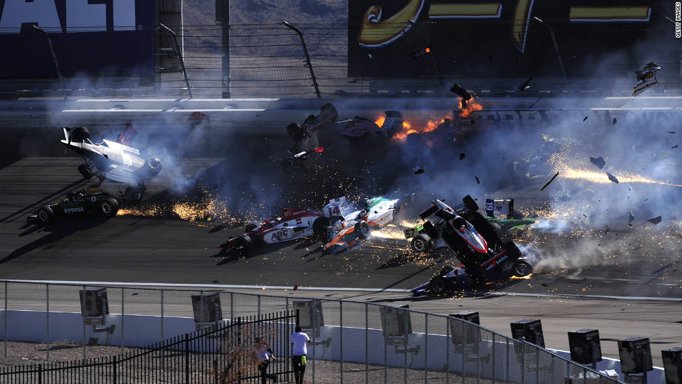 The race was stopped and the remaining drivers, visibly emotional after emerging from a meeting with IndyCar officials, will do a five-lap salute in Wheldon's honor.