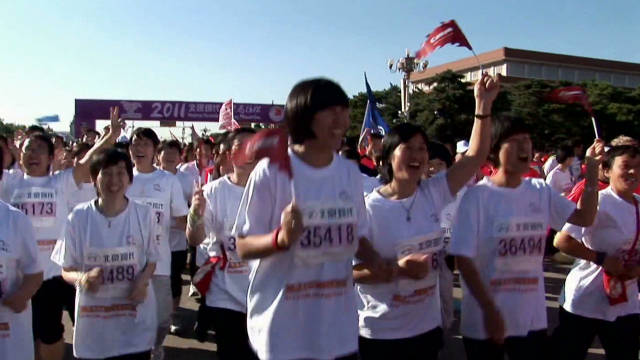 Chinese nuns run for charity