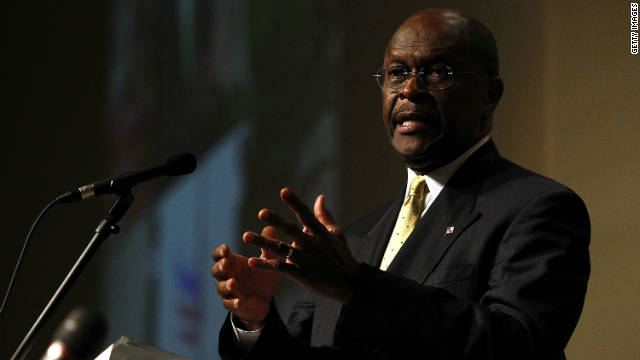 GOP presidential candidate Herman Cain, shown Thursday at Ohio Christian University, will take part in Tuesday's CNN debate.