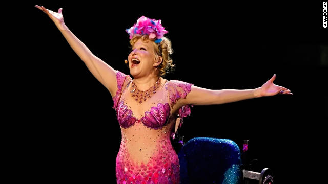 "Bette Midler in the last performance of her show ""The Showgirl Must Go On"" in Las Vegas on January 31 2010"